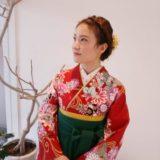 卒業式の袴に合った着付けコーデ(^o^)♪