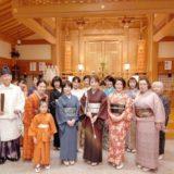 着物で広島護国神社に初詣とランチ会をリーガで(^^)♪