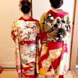 美人姉妹の華やかな振袖を着付けに(^^)♪