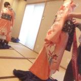 卒業式シーズンに袴の着付け練習(^o^)♪