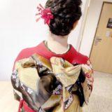 インターゲート広島へ着物の出張着付けとヘアセットに(^^)♪
