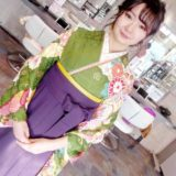 お似合いの袴姿で卒業式に(^^)♪