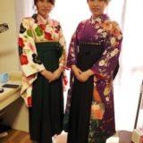 素敵な袴着付けで広島国際大学の卒業式へ(^^)♪