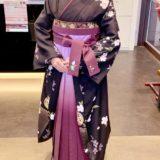 卒業式に大人っぽい振袖に袴で(^^)♪
