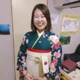 緑色コーデの袴で卒業写真を(^^)♪