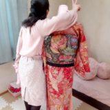 着物の着付け練習(^^)♪
