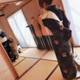 礼装着の着付け練習