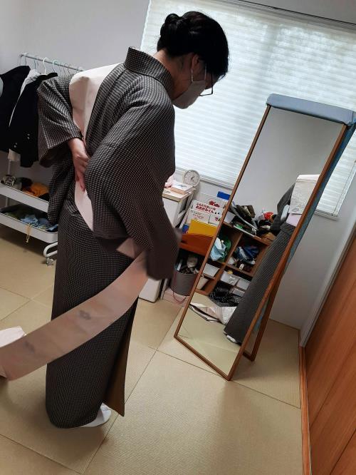 海田のご自宅へ着付け教室へ