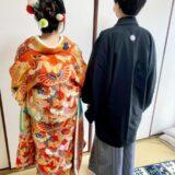 広島市西区楠町へ花嫁衣装の出張着付けに(*^^*)♪