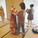来年の成人式で振袖の着付けを(^^)♪