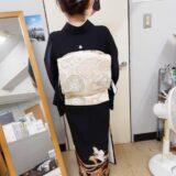 黒留袖を着付けに美容室のクレーデ相田店へ(^^)♪